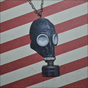 Jewelry - Gas Mask Wooden Necklace